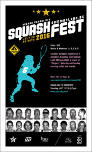 2016 SquashFEST Poster
