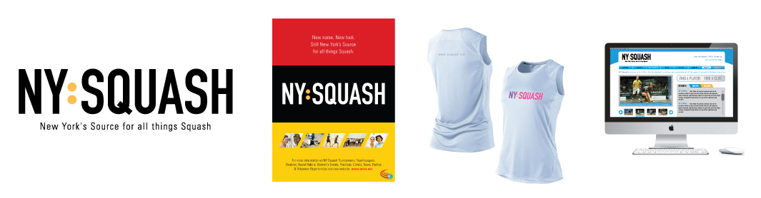 NY Squash Graphic Design Samples