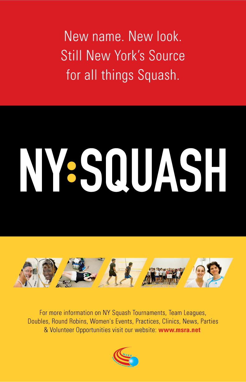 Poster design volunteer - New York Squash