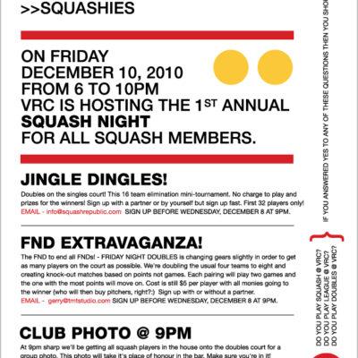 VRC Squash Night 2010