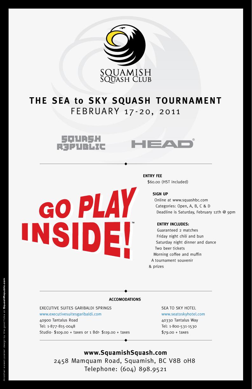 Poster design fee - Squamish Sea To Sky 2011