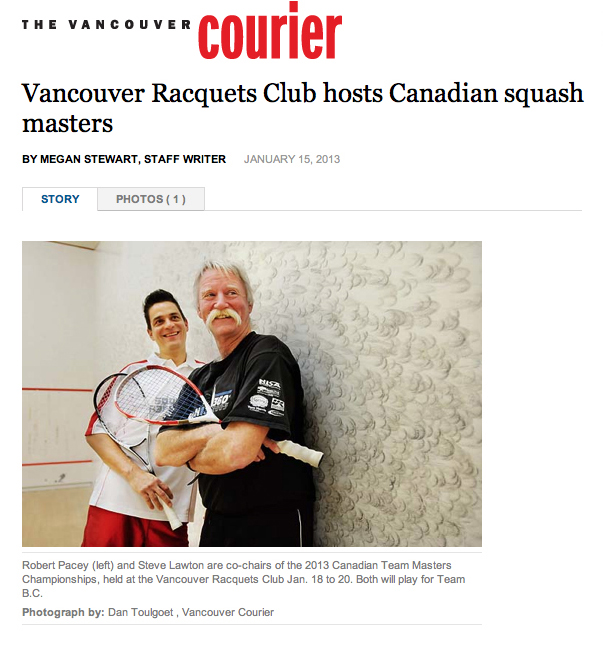 2013 Canadian Team Masters Squash Championships