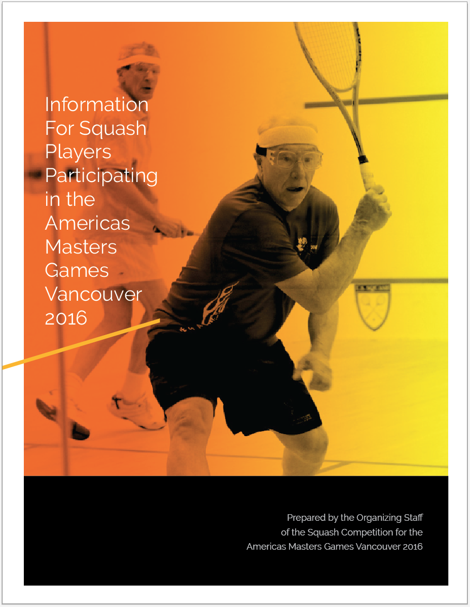 Americas Masters Games 2016 Squash Poster
