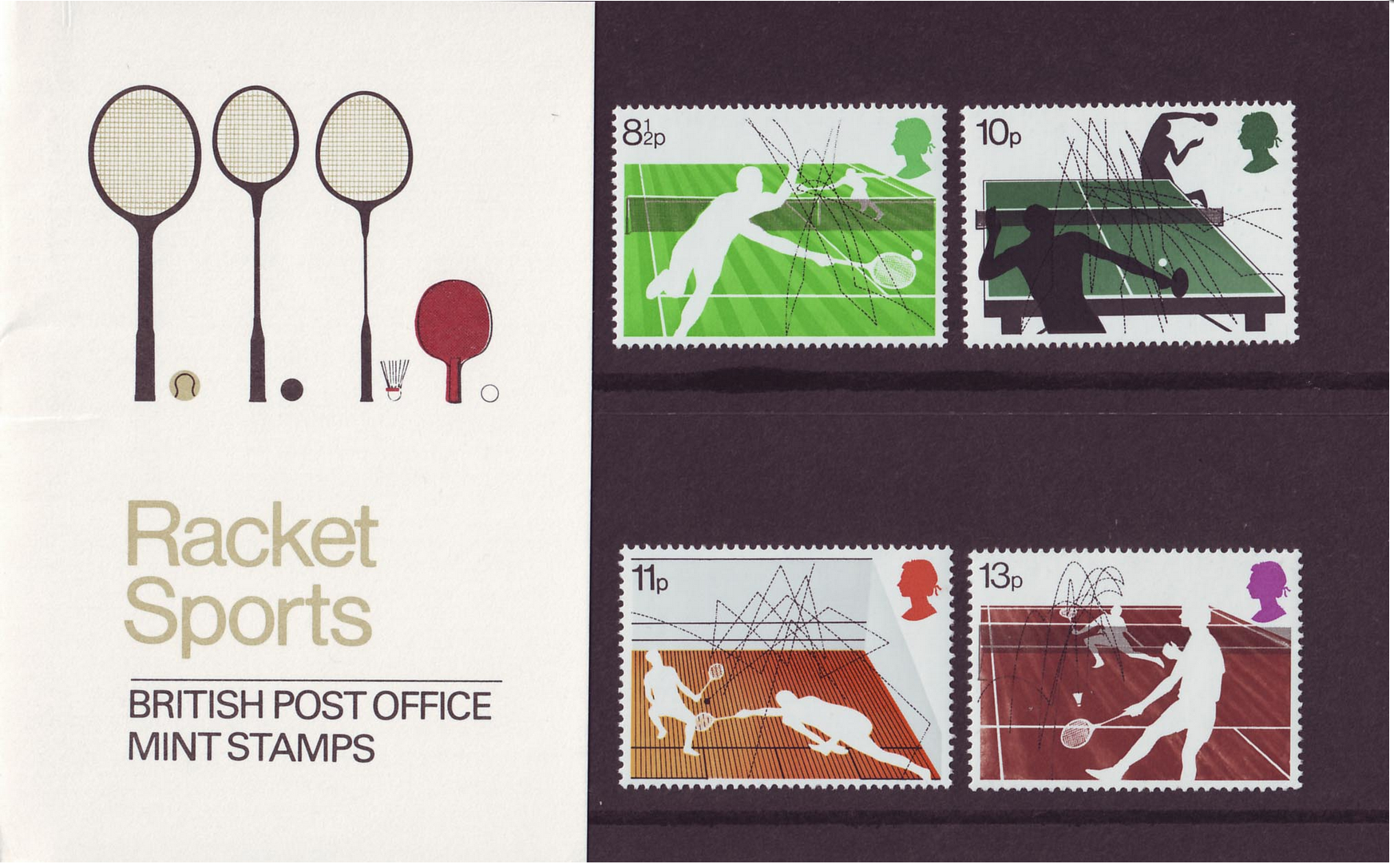 Racket Sports - Commemorative Squash Stamps by Andrew Restall