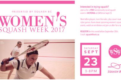 2017 Women's Squash Week Posters